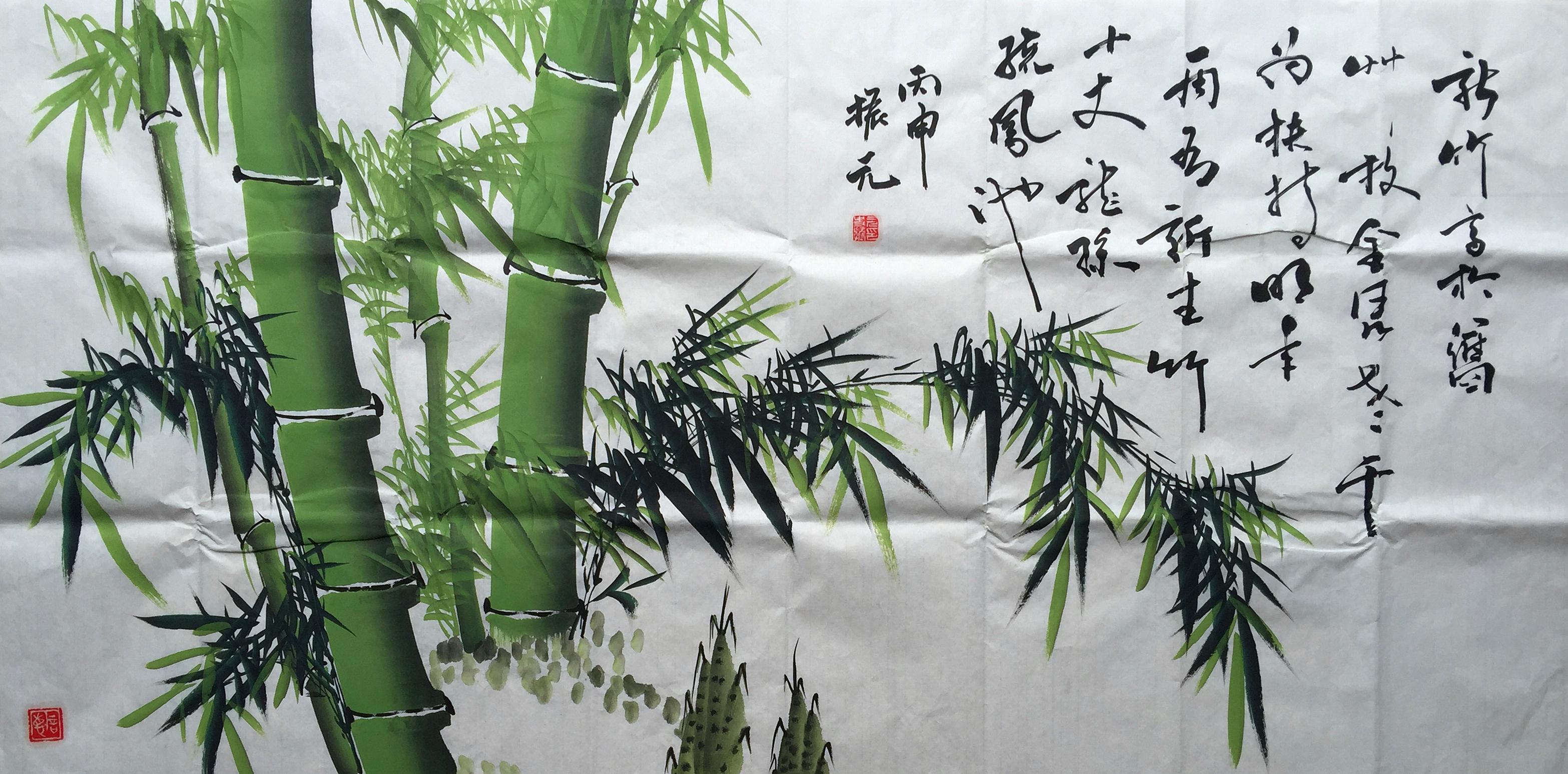 国画竹子图分享 这才是家中最适合的美景